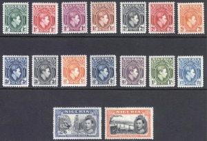 Nigeria 1938 1/2d-5/- Definitive SG 49-59 Scott 53-68 VLMM/MVLH Cat £55($78)