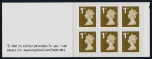 Great Britain MH380a Booklet MNH Queen Elizabeth Machin, To find a Post Code