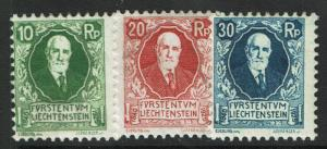 Liechtenstein SC# B1-B3, Mint Hinged, B2 Page Remnant - S2974
