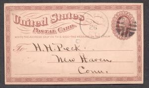 **US 19th Century Cover Waterbury, CT Rohloff # C-9 Fancy Cancel, 4/26 CDS