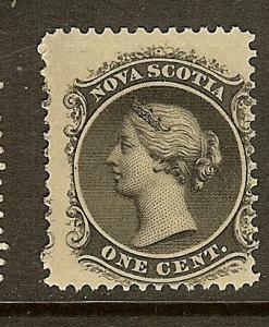 Nova Scotia, Scott #8, 1c Queen Victoria, MH