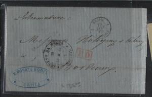 BRAZIL  (PP2701B) 1865  BRTISH PO   BAHIA  TO FRANCE  RED PD MARK
