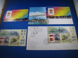 HONG KONG 1997  -  SCOTT # 792 & 798a  FDC & LDC
