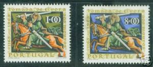 Portugal Scott 974-5 MNH** Knightr Giraldo on Horseback