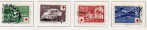 Finland Sc B60-63 1944 Red Cross stamp set used