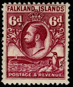 FALKLAND ISLANDS SG121, 6d purple, VLH MINT. Cat £24.