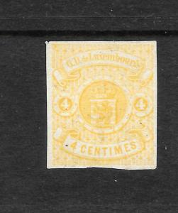 LUXEMBOURG  1859-64  4c  ARMS   MNG  IMPERF SIGNED  Sc 6