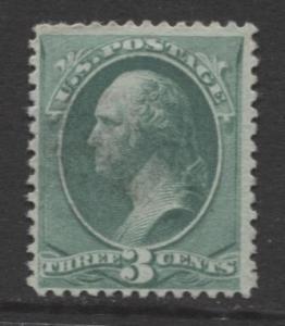 USA - Scott 207 - Washington -1881 - Mint No Gum - Blue Green - 3c Stamp