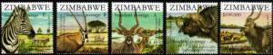 Zimbabwe - 2007 SAPOA Joint Issue Antelopes Set MNH** SG 1244-1248