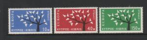 Cyprus 1963 Europa ( 1st ) LMM SG 224/26