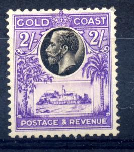 Gold Coast 1928 SG 111 2/- blk & violet, fine mint