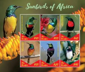 Gambia 2019 Sunbirds of Africa (ss/6v)