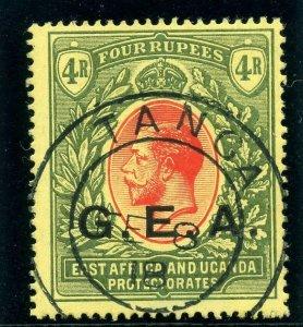 Tanganyika - GEA 1917 KGV 4r red & green/yellow very fine used. SG 58. Sc N118.