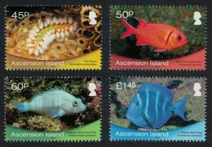 Ascension Fish Marine Life 4v SG#1099-1102