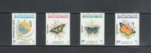 UNITED ARAB EMIRATES:Sc.548-51 / *** BUTTERFLIES ***/  MNH Set
