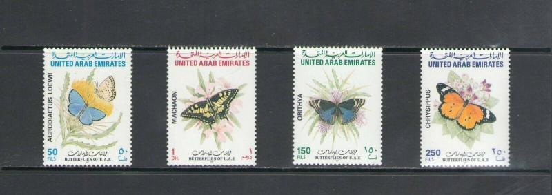 UNITED ARAB EMIRATES:Sc.548-51 / *** BUTTERFLIES ***/  MNH Set
