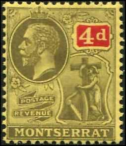 Montserrat SC# 48 KGV 4d MH wmk 3