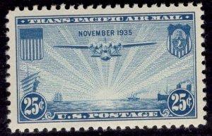 US Stamp #C20 25c China Clipper MINT NH SCV $1.40