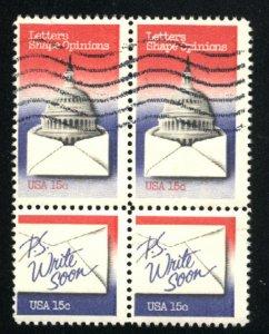 USA #1806,1809   Block used 1980 PD
