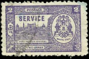 India, Feudatory States, Bhopal Scott #O51 SG #O348 Used