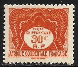 French West Africa Postage Due 1947 Scott# J2 MH