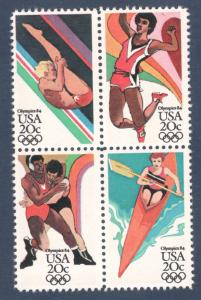 2082-85 Summer Olympic Games Block Of 4 Mint/nh FREE SHIPPING