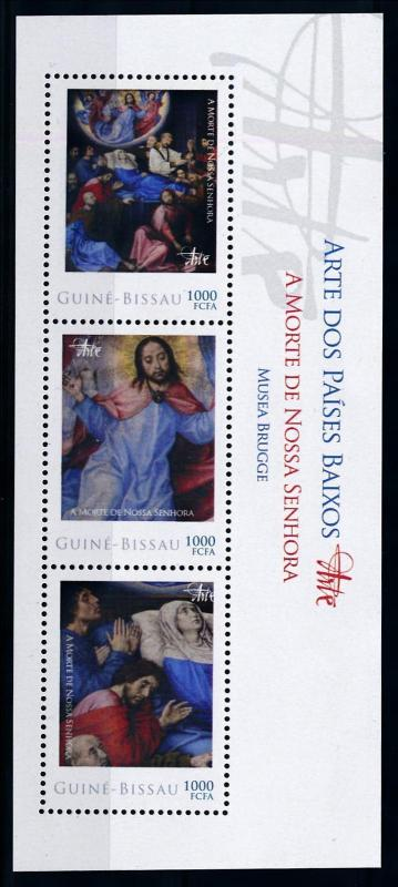 [76611] Guinea Bissau 2012 Painting Death Maria Sheet MNH