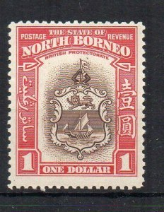 North Borneo 1939 $1 Badge of the Colony MH