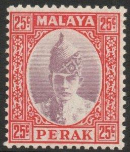 PERAK-1939 25c Dull Purple & Scarlet Sg 115 MOUNTED MINT V45251