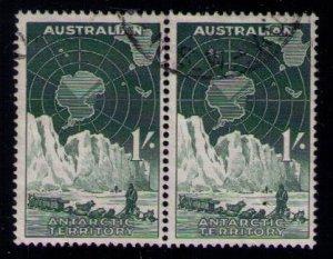 Australian Antarctic Territory (1957) Scott # L3, used, pair