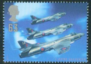 Great Britain Scott 1762 MNH** Hawker Hunter Jet Fighter