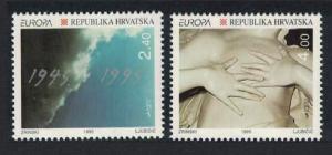 Croatia Europa Peace and Freedom 2v 1995 MNH SG#350-351