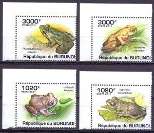 Burundi. 2011. Frogs fauna. MNH.