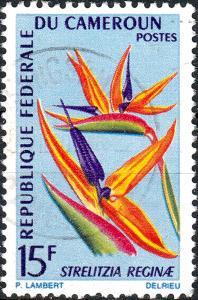 CAMEROUN 1967 Mi.515 15fr Crane/Bird of Paradise Flower (Strelitzia reginae) VFU
