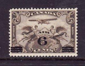 Canada-Sc#C3-Unused 6c on 5c brown olive Air Mail-og-LH-1932-Cdn567-