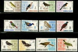 SAMOA Sc#265-274B SG#280-289b 1967-69 Birds Defins Complete Mint OG Hinged