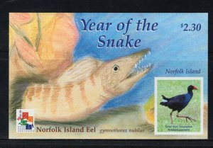 NORFOLK ISLAND -  2001 YEAR OF THE SNAKE  M2748