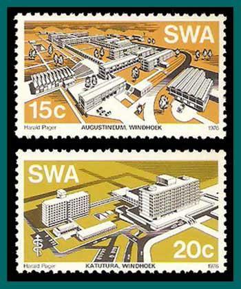 SWA/Namibia 1976 Buildings, MNH  394-395,SG293-SG294