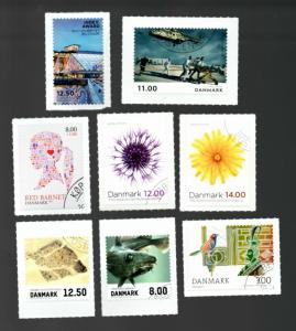 Denmark selection of canceled commemorative stamps from 2012-13 SCV $28.05