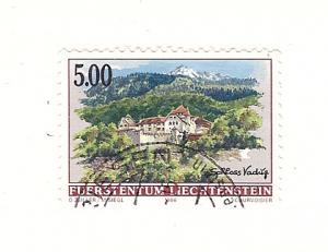 Liechtenstein, 1077, Vaduz Castle XF Single, Used