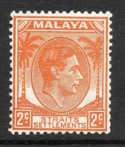 Straits Settlements: 1941 KGVI 2c. die II SG 294 mint