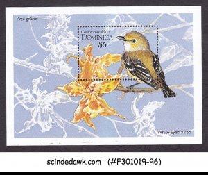 DOMINICA - 1995 BIRDS WHITE EYED VIREO - MIN/SHT MNH