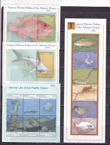 Palau 2000 marine life fish  2klb+2s/s MNH