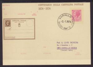 Italy MI P185 Postal Card Typed FDC