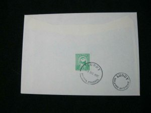 LUNDY STAMP USED ON 1992 COVER