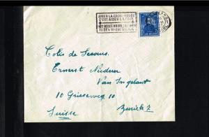 1947 - Belgium Cover - From Brussels to Zurich (CH) [B09_125]
