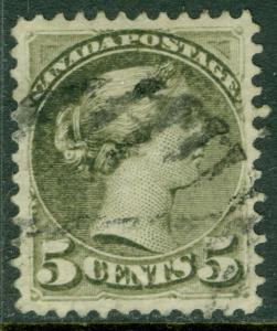 EDW1949SELL : CANADA 1876 Unitrade #38 Used. A Choice XF, Used stamp. Cat $35.00