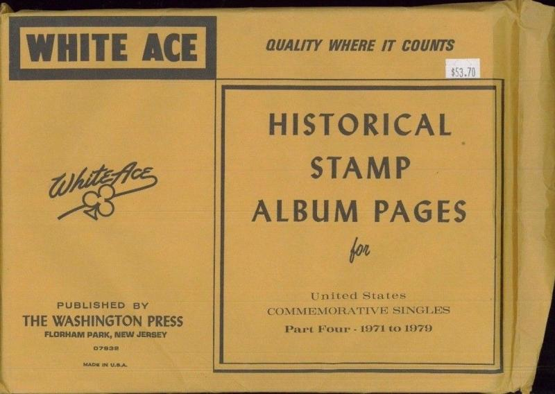 WHITE ACE Historical Album Pages US Commemorative Singles Part Four 1971-1979