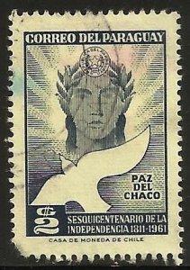 Paraguay 1961 Scott# 593 Used (corner)