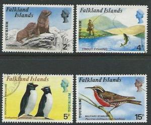 FALKLAND IS 1974 Birds set fine used.......................................52174